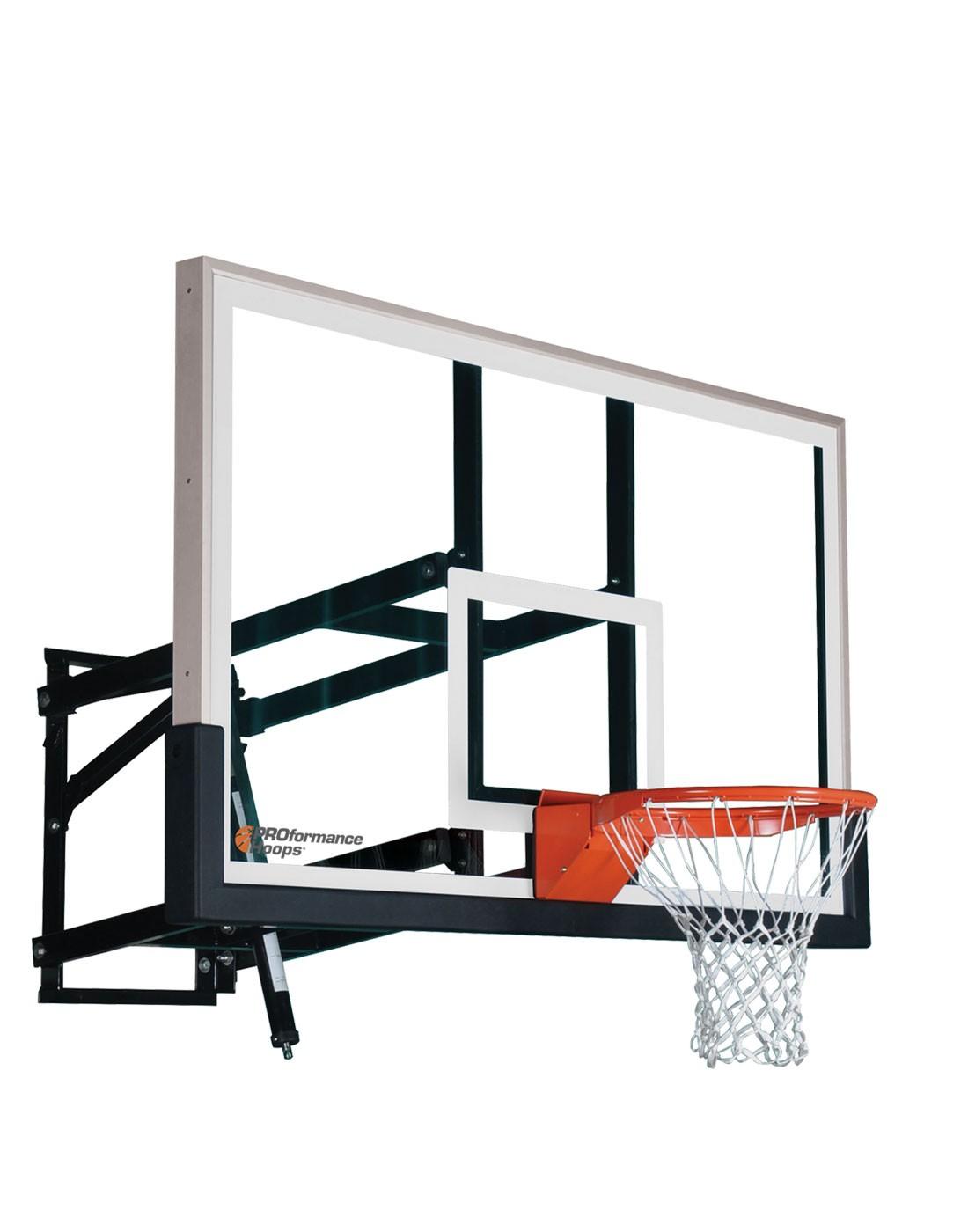 Wall Mount Wm60 Adjustable Basketball Hoop With 60 Inch Backboard - Wall Mount Wm60 Adjustable Basketball Hoop With 60 Inch Backboard
